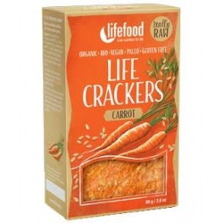 Lifecrackers cu morcovi raw bio 80g Lifefood