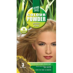 Pudra de hena Colour Powder Golden Blond 50 100 gr HennaPlus