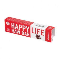 Baton raw bio cu coacaze 42g - Happy Life