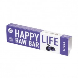 Baton raw bio cu prune 42g - Happy Life